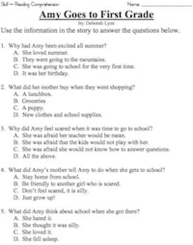 Grade Reading Comprehension Workbook - Volume 1 (50 Stories)