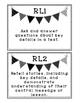 First Grade Reading + ELA Standards Wall Signs