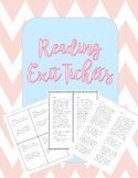 First Grade Reading Exit Tickets