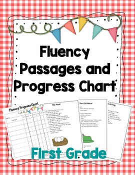 First Grade Reading Fluency Passages and Progress Chart for Leadership Notebooks