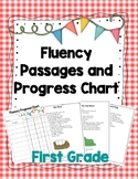 First Grade Reading Fluency Passages and Progress Chart fo