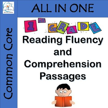 First Grade Reading Fluency and Comprehension Passages {En