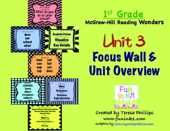 First Grade Reading Focus Wall supports Unit 3 McGraw Hill