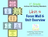 First Grade Reading Focus Wall supports Unit 4 McGraw Hill Wonders Grade 1