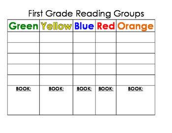 First Grade Reading Groups