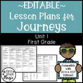 Journeys Lesson Plans First Grade Unit 1 {EDITABLE!}