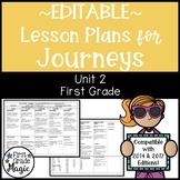 Journeys Lesson Plans First Grade Unit 2 {EDITABLE!}