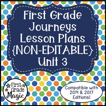 Journeys Lesson Plans 1st Grade Unit 3
