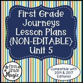 Journeys Lesson Plans 1st Grade Unit 5