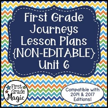 Journeys Lesson Plans 1st Grade Unit 6