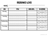 First Grade Reading Log