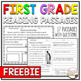 Reading Comprehension Passages and Questions   First Grade  FREEBIE