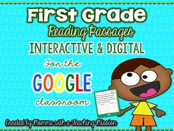 Google Drive Interactive First Grade Reading Passages - Long & Short Vowel Words
