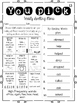 First Grade Reading Street EDITABLE spelling menus Units 1-5