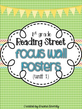 First Grade Reading Street Focus Wall Posters - Unit 1