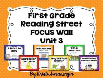 First Grade Reading Street Focus Wall Unit 3
