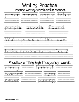 First Grade Reading Street Homework Unit 5 Weekly Homework