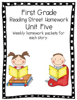 First Grade Reading Street Homework Unit 5 Weekly Homework