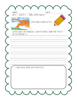 First Grade Reading Street Look Back and Write Unit 1
