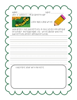 First Grade Reading Street Look Back and Write Unit 3