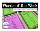 First Grade Reading Street Spelling Word Lists