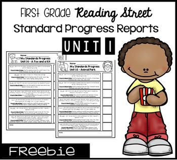 First Grade Reading Street Standard Progress Report Unit 1