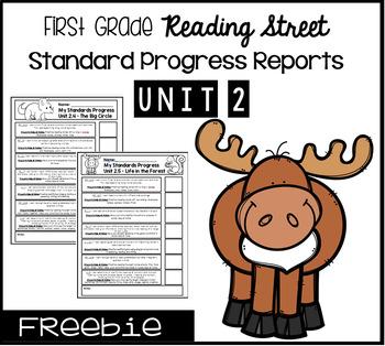 First Grade Reading Street Standards Progress Reports- Unit 2