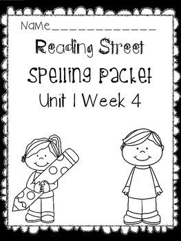 First Grade Reading Street Unit 1 Week 4 Spelling Packet