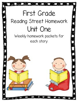 First Grade Reading Street Unit 1 Weekly Homework Review