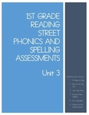 First Grade Reading Street Unit 3 Phonics Test