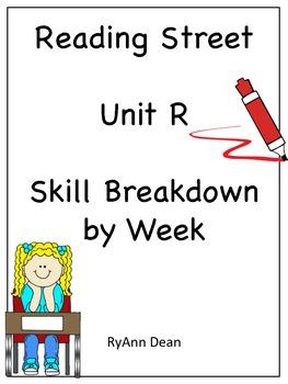 First Grade Reading Street Unit R Breakdown
