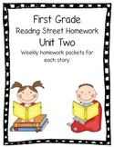 First Grade Reading Street Unit Two Weekly Homework Review