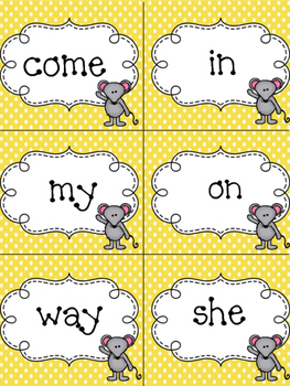 First Grade Reading Street Units 1-3 Cheesy Challenge Sight Word Game