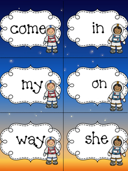First Grade Reading Street Units 1 and 2 Out of This World Sight Word Game