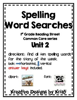 First Grade Reading Street Word Search Unit 2