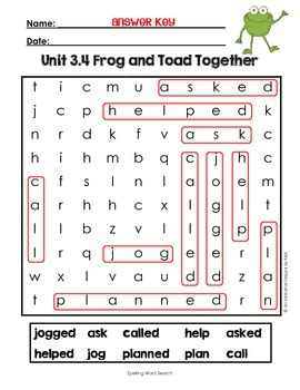 First Grade Reading Street Word Search Unit 3