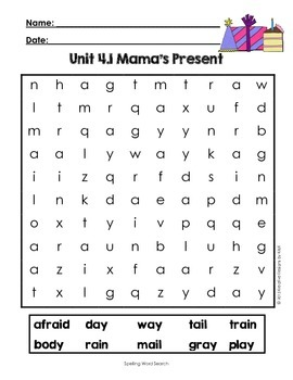 First Grade Reading Street Word Search Unit 4