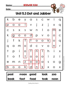 First Grade Reading Street Word Search Unit 5