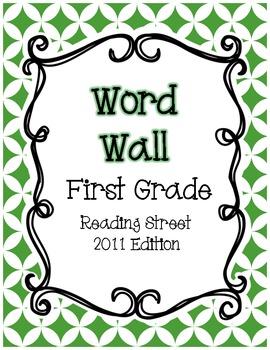 First Grade Reading Street Word Wall