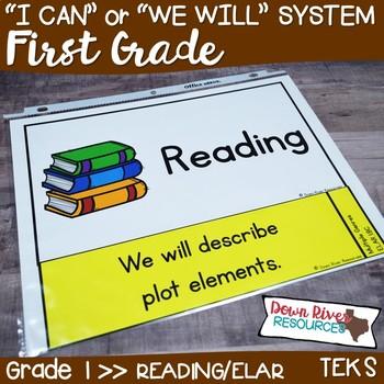First Grade Reading TEKS I Can Statements {ELAR Standards}