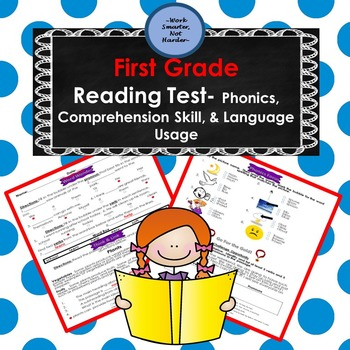 First Grade Reading Test Aligned to Common Core