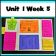 First Grade Reading Unit 1 Weeks 1-5 Bundle