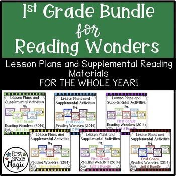 First Grade Reading Wonders ALL YEAR BUNDLE!