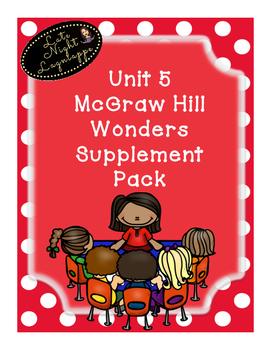 First Grade Reading Wonders HUGE supplemental Bundle for Unit 5!