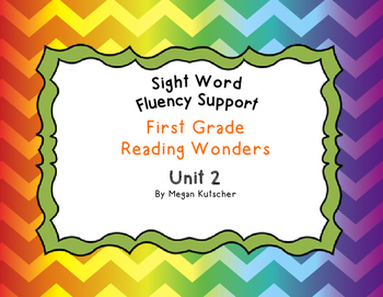 First Grade Reading Wonders Sight Word Fluency Activities Unit 2