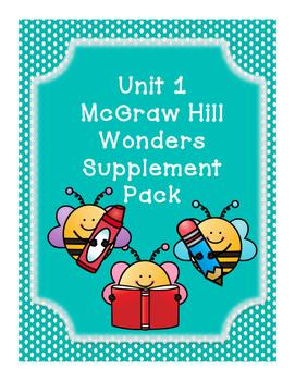 First Grade Reading Wonders Supplemental Bundle for Unit 1