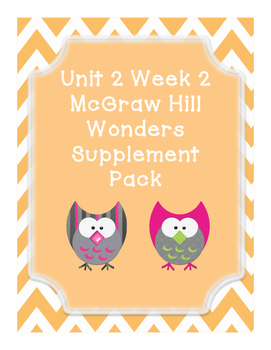First Grade Reading Wonders Supplemental Bundle for Unit 2 Week 2