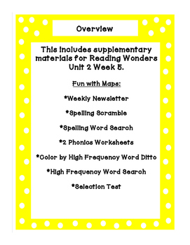 First Grade Reading Wonders Supplemental Bundle for Unit 2 Week 5 Fun with Maps