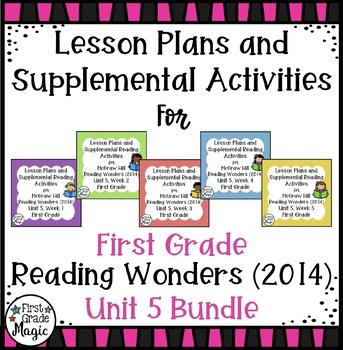 First Grade Reading Wonders UNIT 5 Bundle