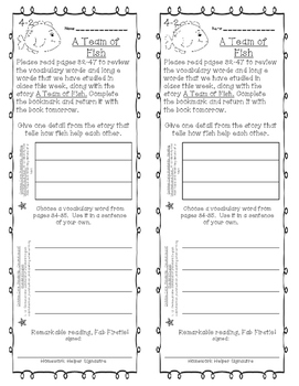 First Grade Reading Wonders Unit 4 Homework Bookmarks